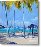 Honey Moon Beach Day Metal Print