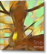 Honey Pastel Abstract Metal Print
