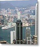 Hong Kong Skyline Metal Print by Lars Ruecker