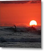 Honolulu At Sundown Metal Print