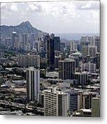Honolulu - Diamond Head - Pacific Metal Print