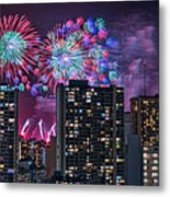 Honolulu Festival Fireworks Metal Print