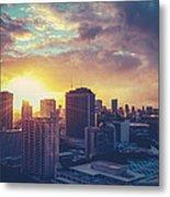 Honolulu Hawaii Sunset Metal Print