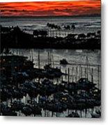 Honolulu Marina Sunset Metal Print