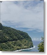 Honomanu Highway To Heaven Road To Hana Maui Hawaii Metal Print