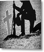 Honor In The Field Metal Print by Carolyn Marshall