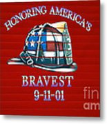 Honoring Americas Bravest From Sept 11 Metal Print
