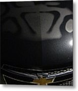 Hood And Grill Of Chevy Metal Print