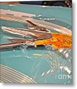 1955 Pontiac Hood Ornament Metal Print