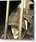 Hooded Prisoner Metal Print