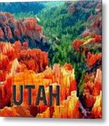 Hoodoos In Bryce Canyon Utah Metal Print
