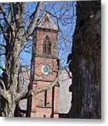 Hoosick Falls Brick Church Metal Print