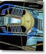 Hoover Dam Diagram Metal Print