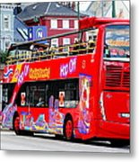 Hop On And Hop Off Bus In Bergen Metal Print