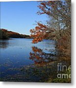 Hopeville Autumn Reflections     Metal Print