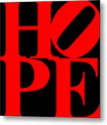 Hope 20130710 Red Black Metal Print