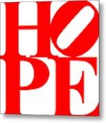 Hope 20130710 Red White Metal Print