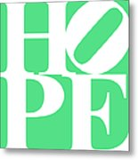 Hope 20130710 White Green Metal Print by Wingsdomain Art and Photography