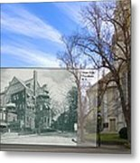 Hope Club And First Unitarian Church In Providence Ri Metal Print
