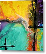 Hope - Colorful Abstract Art By Sharon Cummings Metal Print