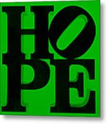 Hope In Green Metal Print