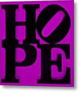 Hope In Purple Metal Print
