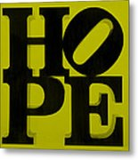 Hope In Yellow Metal Print