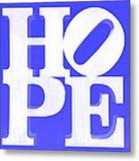 Hope Inverted Blue Metal Print