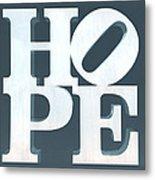 Hope Inverted Denim Metal Print