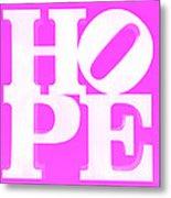 Hope Inverted Pink Metal Print