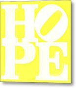 Hope Inverted Yellow Metal Print