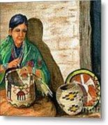 Hopi Basket Weaver Metal Print