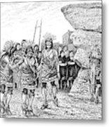 Hopi Indian Snake Dance Metal Print