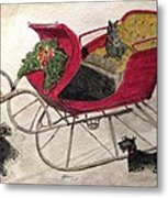 Hoping For A Sleigh Ride Metal Print