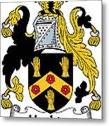 Hopkins Coat Of Arms Irish Metal Print
