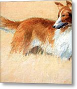 Hopper's Cape Cod Evening -- The Dog Metal Print