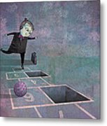 Hopscotch2 Metal Print by Dennis Wunsch
