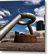 Horace Dodge Fountain Hart Plaza Detroit Michigan  Metal Print