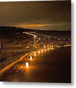 Horicon Marsh Candlelight Snow Shoe/hike Metal Print