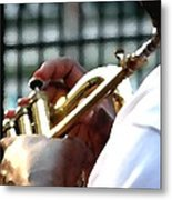Horn Player Pk 0071 Metal Print