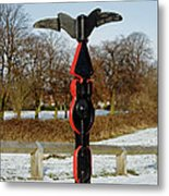 Horninglow Linear Park Signpost Metal Print