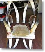 Horny Chair Metal Print