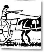 Horse & Cart, 19th Century Metal Print