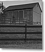 Horse And Barn Metal Print