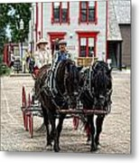 Horse And Buggy Sc3643-13 Metal Print
