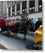 Horse And Carriage Nyc Metal Print