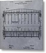 Horse Breaker Patent Metal Print