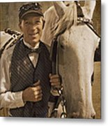 Horse Carriage Driver 1 Metal Print