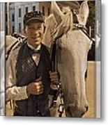 Horse Carriage Driver 3 Metal Print