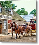 Horse Carriage Metal Print